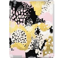 Simone - abstract painting gold foil trendy hipster pastel pink modern trendy colors decor college iPad Case/Skin