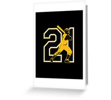 21 - Arriba (original) Greeting Card