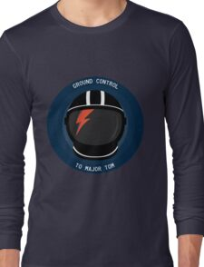 Ground Control To Major Tom - David Bowie Long Sleeve T-Shirt