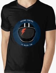 Ground Control To Major Tom - David Bowie Mens V-Neck T-Shirt