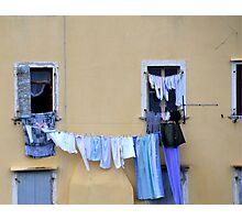 Wash Day At Rovinj Croatia Photographic Print