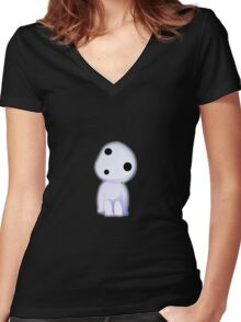 Kodama is the best! Women's Fitted V-Neck T-Shirt