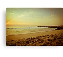 Sunset on the beach Canvas Print