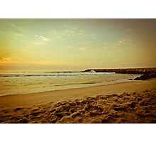 Sunset on the beach Photographic Print
