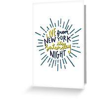 Saturday Night Live Greeting Card