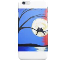 Birds on tree of life wall art Original print painting bird decor wall art abstract iPhone Case/Skin