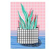 Glam - modern pop art memphis throwback retro 1980s style bklyn grid pattern new york city Photographic Print