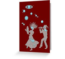Cosmic Dance with Music of the Spheres Greeting Card