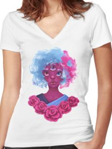 Steven Universe Garnet Women's Fitted V-Neck T-Shirt