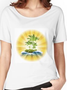 Tropic Theme Women's Relaxed Fit T-Shirt