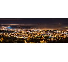 Braga cityscape at night Photographic Print