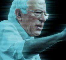 Help Us Bernie ... You're Our Only Hope! (RWB) Sticker