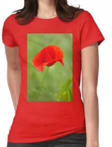 Beautiful photo of poppy Womens Fitted T-Shirt