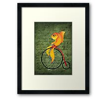 Penny Farthing Fish2 Framed Print