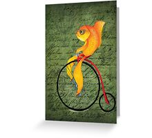 Penny Farthing Fish2 Greeting Card