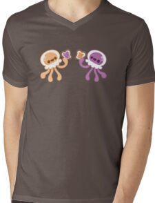 Peanut Butter Jellyfish Love Mens V-Neck T-Shirt