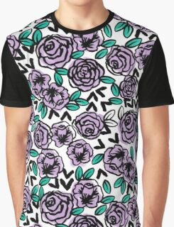 Roses - White Lilac by Andrea Lauren  Graphic T-Shirt