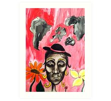 Mr Earthy Art Print