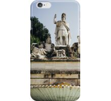 Piazza Del Popolo Fountain iPhone Case/Skin