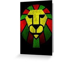 Rasta Lion. Greeting Card