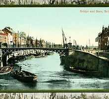 Vintage Bridge and Bore Bridgwater Somerset by aapshop