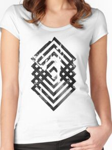 Abstract geometric art Women's Fitted Scoop T-Shirt