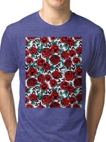 Roses - Red by Andrea Lauren  Tri-blend T-Shirt