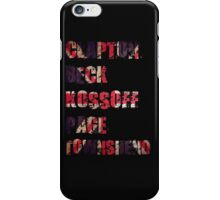 Clapton - Beck - Townshend - Kossoff - Page - British Guitar Legends iPhone Case/Skin
