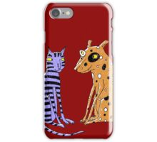 Opposites Attract Cat and Dog iPhone Case/Skin