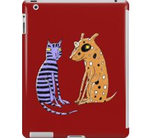 Opposites Attract Cat and Dog iPad Case/Skin