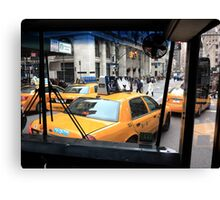New York Taxi Cabs Canvas Print