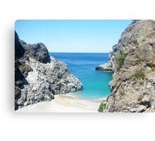 Greek ocean landscape Canvas Print