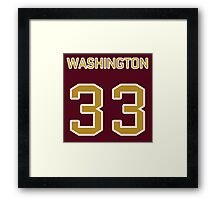 Washington Football (II) Framed Print