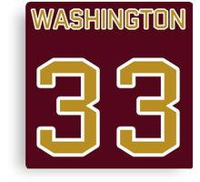 Washington Football (II) Canvas Print