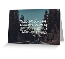 Road Trip Emerson Greeting Card