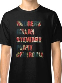 British Rock Singers - Rodgers - Gillan - Stewart - Plant - Coverdale Classic T-Shirt