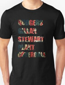 British Rock Singers - Rodgers - Gillan - Stewart - Plant - Coverdale T-Shirt