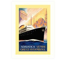Venice Greece Istanbul shipping line retro vintage ad Art Print