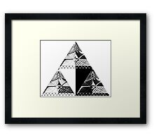 Tri-force pattern Framed Print
