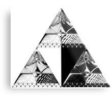 Tri-force pattern Metal Print
