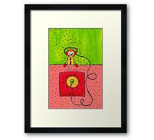 Robot Farm:  Volume Control Framed Print