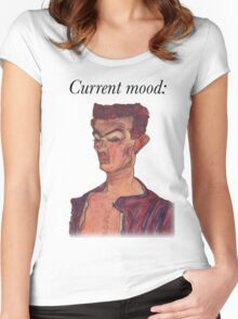 Current Mood: Egon Schiele  Women's Fitted Scoop T-Shirt