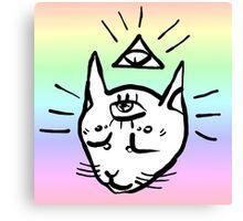 illuminati cat Canvas Print