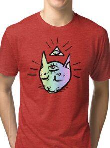 illuminati cat Tri-blend T-Shirt