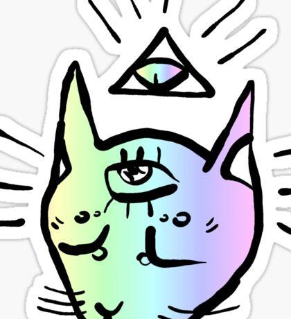 illuminati cat Sticker