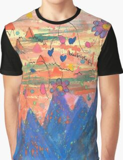 Bluebirds Fly Graphic T-Shirt