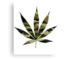 Camo Weed Canvas Print