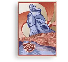 Troy Uncle Sam Travel Poster Canvas Print