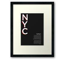 Gotham Typography Poster Framed Print