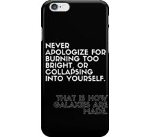 How Galaxies Are Made (Black) iPhone Case/Skin